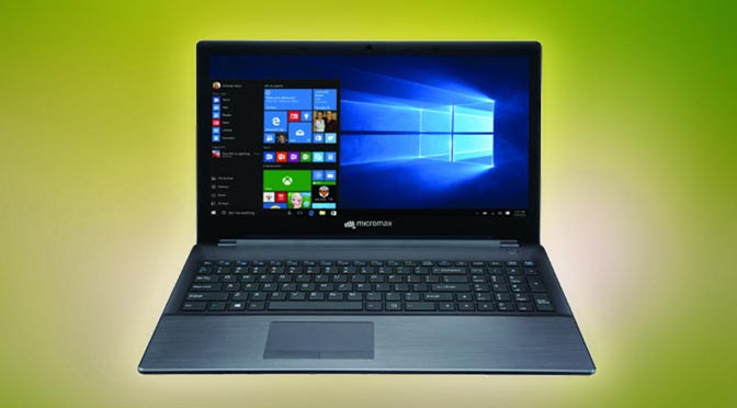 Micromax Laptop Alpha with Core i3 and Windows 10, price of Rs 26,990