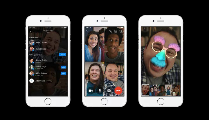 Facebook Messenger :Launching Their Video Chat Better, With up-to 50 Persons