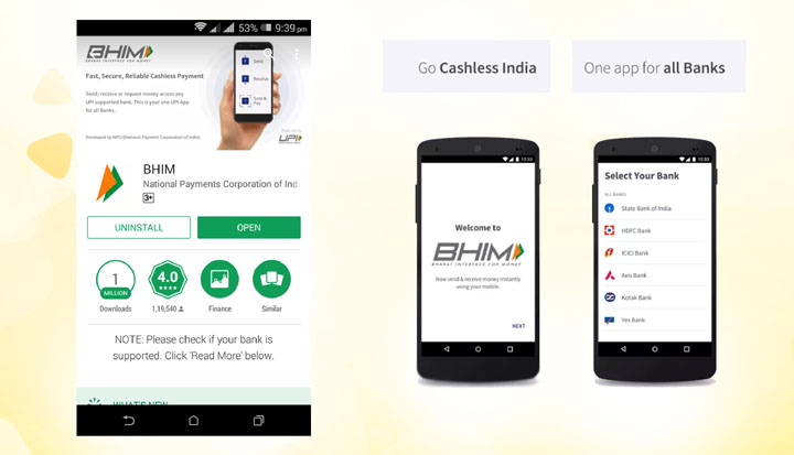 BHIM App And Its Importance For Cashless Transactions
