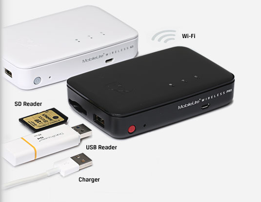 Wireless Power Bank & Storage : Back Up Smartphone Storage & Charge On a Single Click